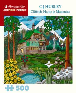 Cliffside House Landscape Jigsaw Puzzle