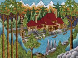 House of the Minaret Domestic Scene Jigsaw Puzzle