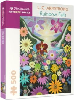 Rainbow Falls Flowers Jigsaw Puzzle