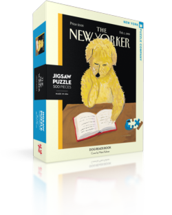 Dog Reads Book (The New Yorker) Nostalgic / Retro Jigsaw Puzzle