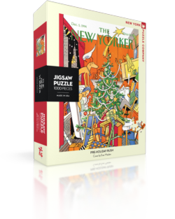 Pre-Holiday rush (The New Yorker) Christmas Jigsaw Puzzle