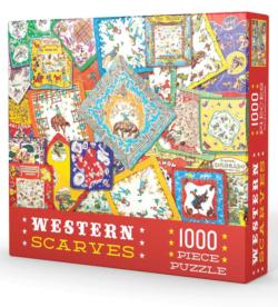 Western Scarves Nostalgic / Retro Jigsaw Puzzle