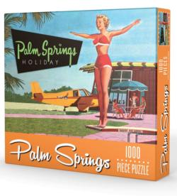 Palm Springs Holiday Nostalgic / Retro Jigsaw Puzzle