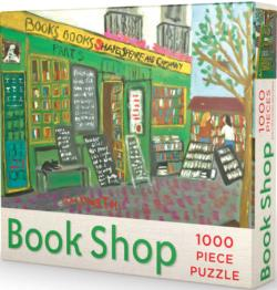 Book Shop Puzzle Street Scene Jigsaw Puzzle