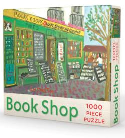 Book Shop Puzzle Street Scene Jigsaw Puzzle