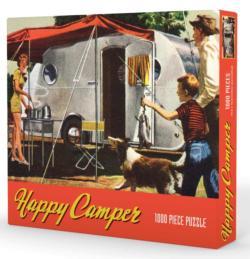 Happy Camper Nostalgic / Retro Jigsaw Puzzle