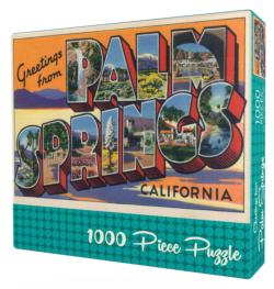 Greetings from Palm Springs Nostalgic / Retro Jigsaw Puzzle