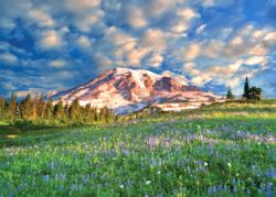 Wildflowers at Mount Rainier Landscape Jigsaw Puzzle