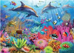 Coral Reef Dolphins Jigsaw Puzzle