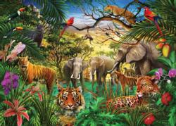 Jungle Life Jungle Animals Jigsaw Puzzle