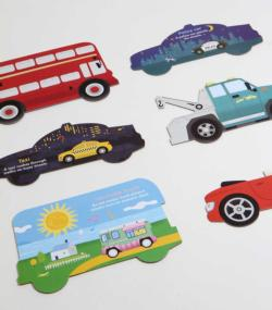Bumper-to-Bumper Cars Puzzle Vehicles Double Sided