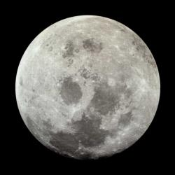 Moon Space Round Jigsaw Puzzle