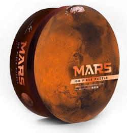 Mars Photography Round Jigsaw Puzzle
