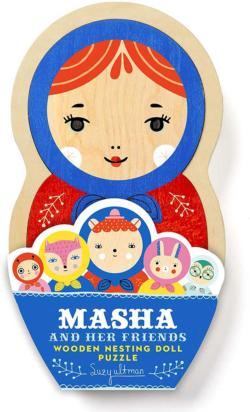 Masha and Her Friends Wooden Nesting Doll Puzzle Europe Children's Puzzles