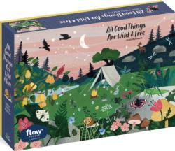 All Good Things Are Wild & Free Landscape Jigsaw Puzzle