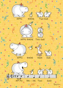 Hippo Birdie Two Ewe Birthday Puzzle Music Jigsaw Puzzle