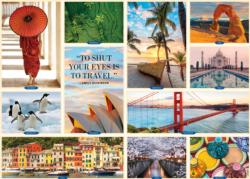 1,000 Places to See Before You Die Collage Jigsaw Puzzle