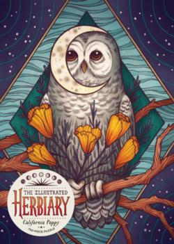 The Illustrated Herbiary: California Poppy Owl Jigsaw Puzzle
