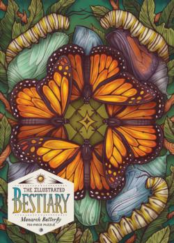The Illustrated Bestiary: Monarch Butterfly Butterflies and Insects Jigsaw Puzzle