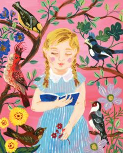 The Girl Who Reads to Birds People Jigsaw Puzzle