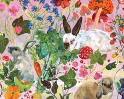 Rabbits Garden Jigsaw Puzzle