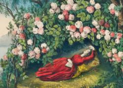 The Bower of Roses Flowers Jigsaw Puzzle