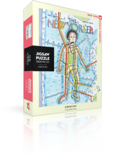 Subway Man (The New Yorker) Cities Jigsaw Puzzle