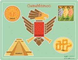 Cuauhtemoc Native American Chunky / Peg Puzzle