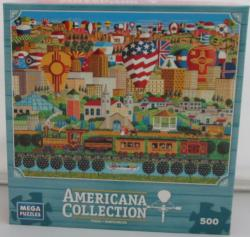 Americana - Albequerque Cities Jigsaw Puzzle