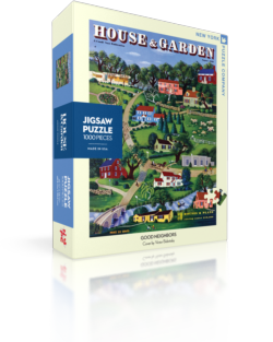 Good Neighbors (House & Garden) Americana & Folk Art Jigsaw Puzzle