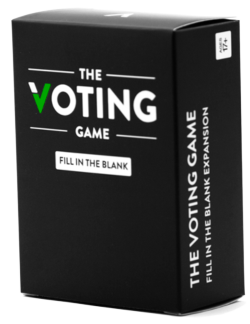 The Voting Game Fill in the Blank Expansion Party Games