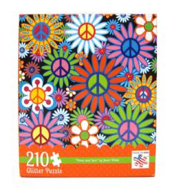 Peace and Love Glitter Collage Jigsaw Puzzle