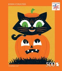Pumpkin Cat Halloween Jigsaw Puzzle