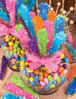 Rock Candy Sweets Jigsaw Puzzle