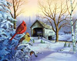 Snowy Haven Snow Jigsaw Puzzle
