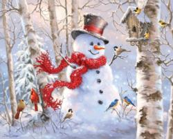Winter Friends Snowman Jigsaw Puzzle