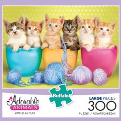 Kittens in Cups (Adorable Animals) Kittens Large Piece