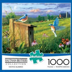 Nesting Bluebirds Garden Jigsaw Puzzle