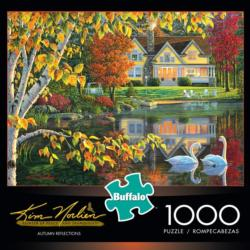 Autumn Reflections Landscape Jigsaw Puzzle