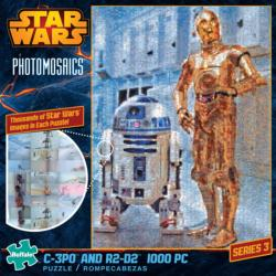 C-3PO and R2-D2 Star Wars Photomosaic