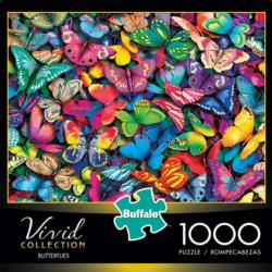 Butterflies (Vivid) Pattern / Assortment Jigsaw Puzzle