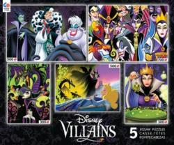Villians 5 in 1 (Disney) Movies / Books / TV Children's Puzzles