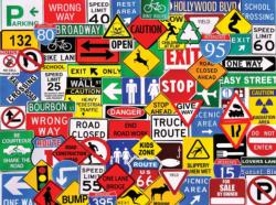 Road Signs Everyday Objects Jigsaw Puzzle