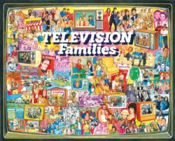 TV Families Collage Jigsaw Puzzle