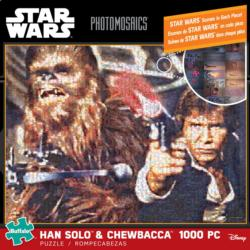 Han Solo & Chewbacca - Scratch and Dent Sci-fi Photomosaic