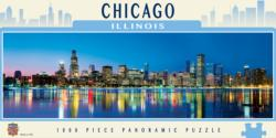 Chicago Lakes / Rivers / Streams Panoramic Puzzle