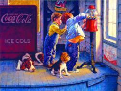 A Penny A Piece Coca Cola Jigsaw Puzzle