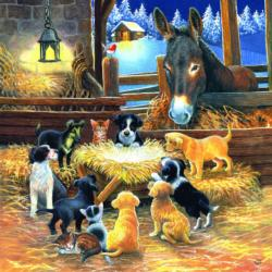 Barnyard Nativity Christmas Jigsaw Puzzle
