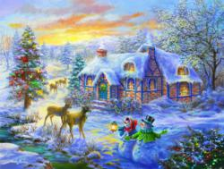 Christmas Home Snow Jigsaw Puzzle