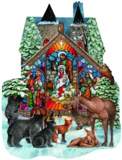 Forest Nativity Christmas Jigsaw Puzzle